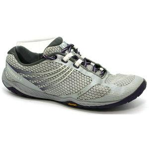 Merrell Womens Pace Glove 3 Vibram Gray Sneakers 8